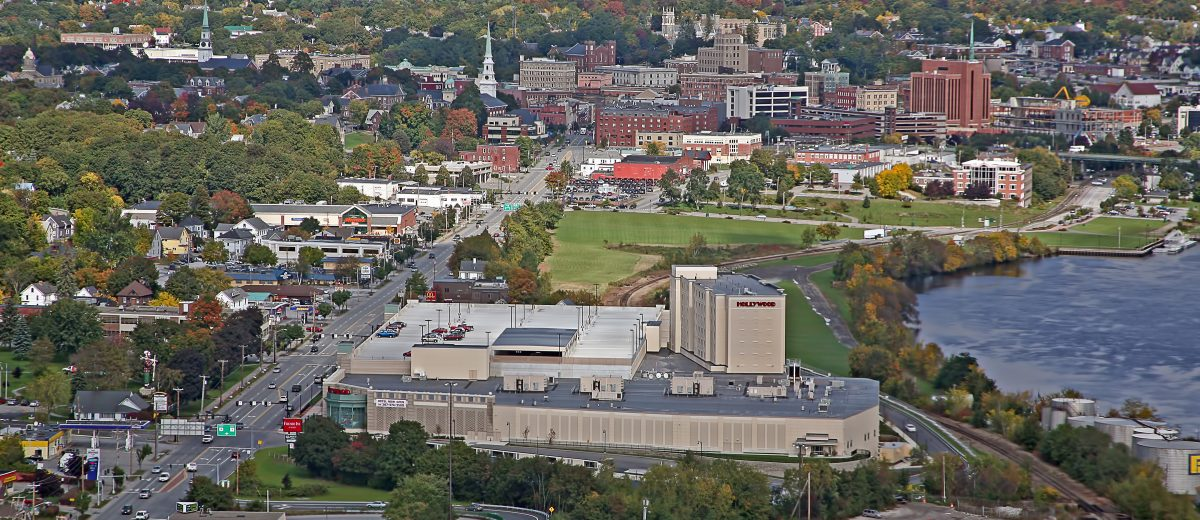 aerial photo of bangor maine