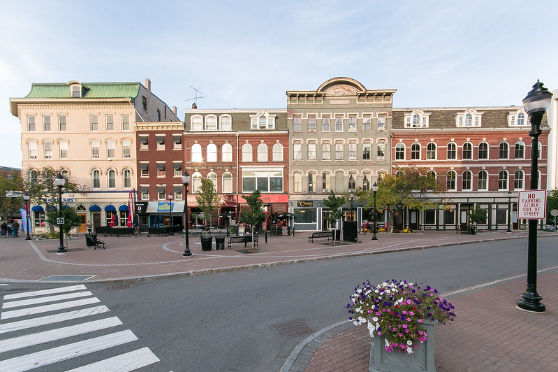 photo of buildings in downtown bangor