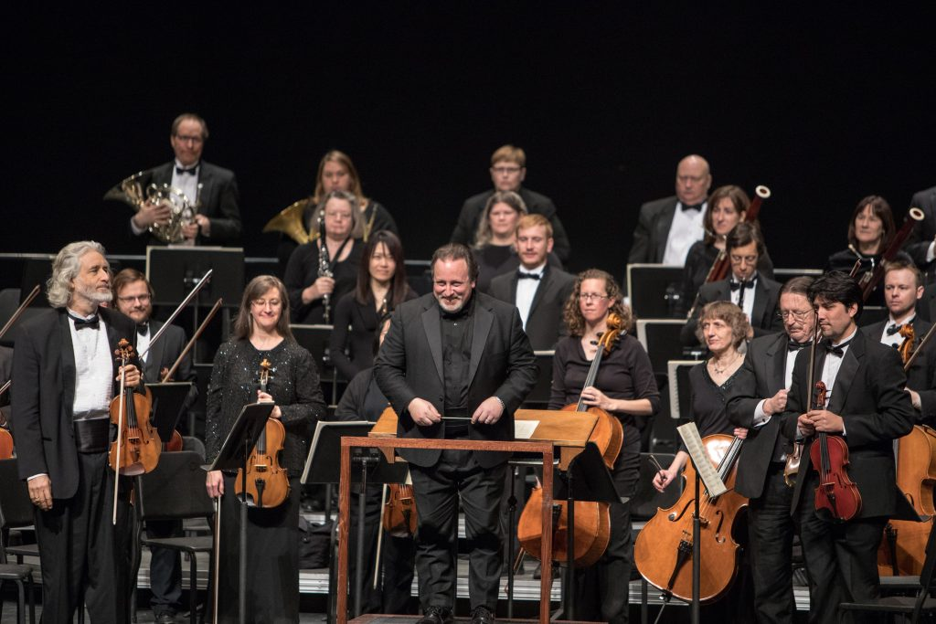 photo of lucas richman and the bangor symphony orchestra