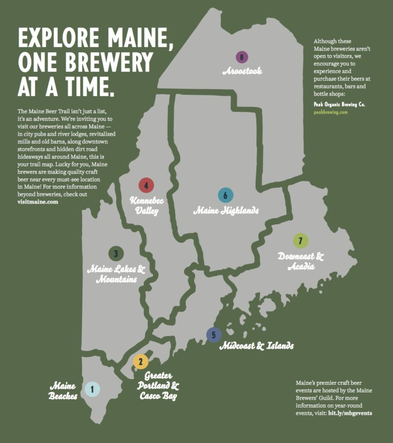 explore maine, one brewery at a time graphic