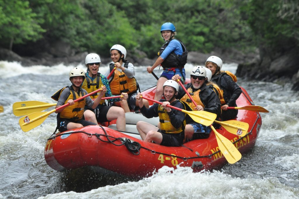 photo of white water rafters on penobscot river