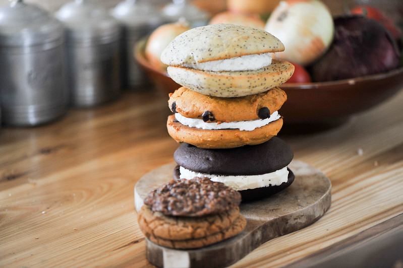 photo of stacked whoopie pies and cookies