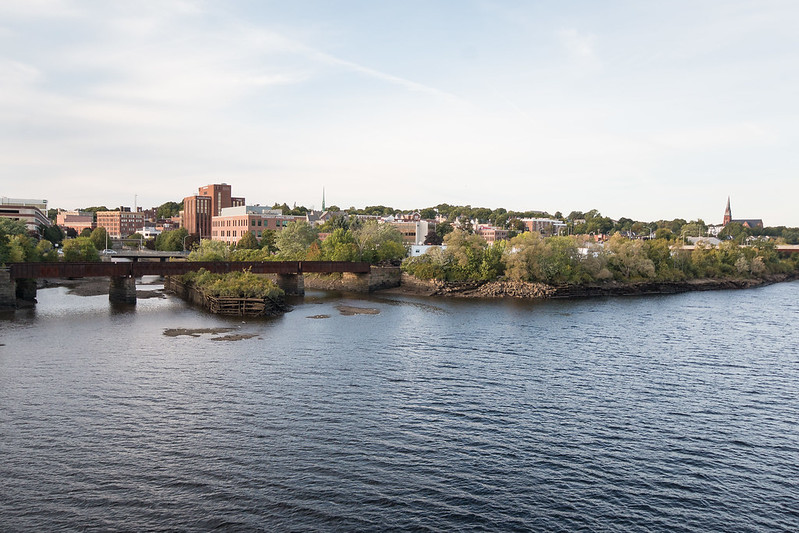photo of bangor maine from across the penobscot river