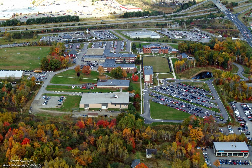 aerial photo of eastern maine community college