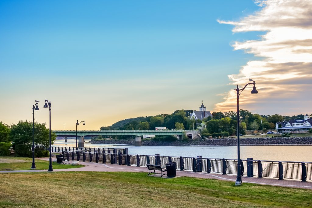 photo of bangor maine waterfront looking across the penobscot river at brewer maine