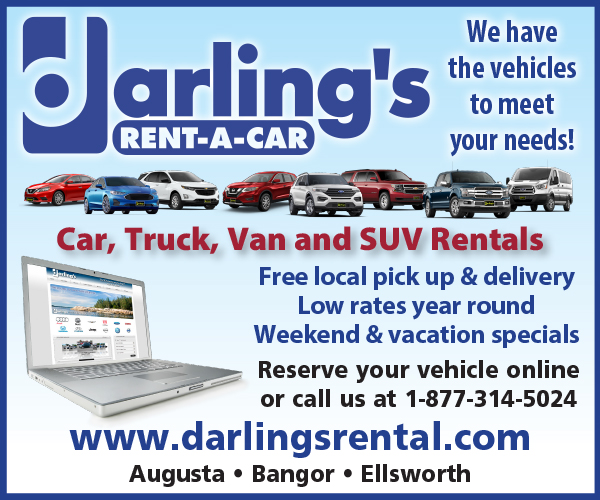 darling's rent-a-car we have the vehicles to meet your needs digital ad