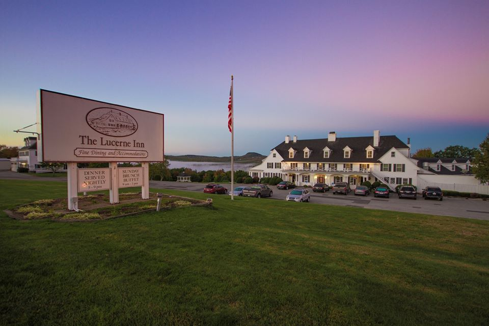 photo of the lucerne inn sign and main building