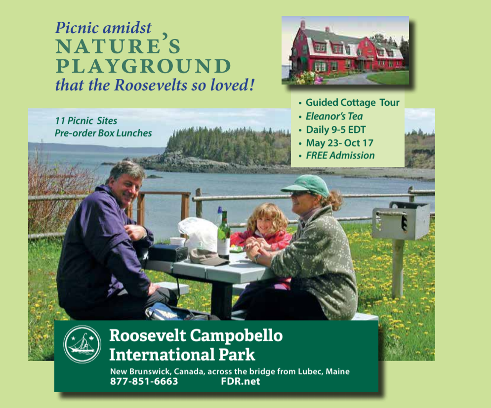 roosevelt campobello international park picnic amidst nature's playground that the Roosevelts so loved digital ad