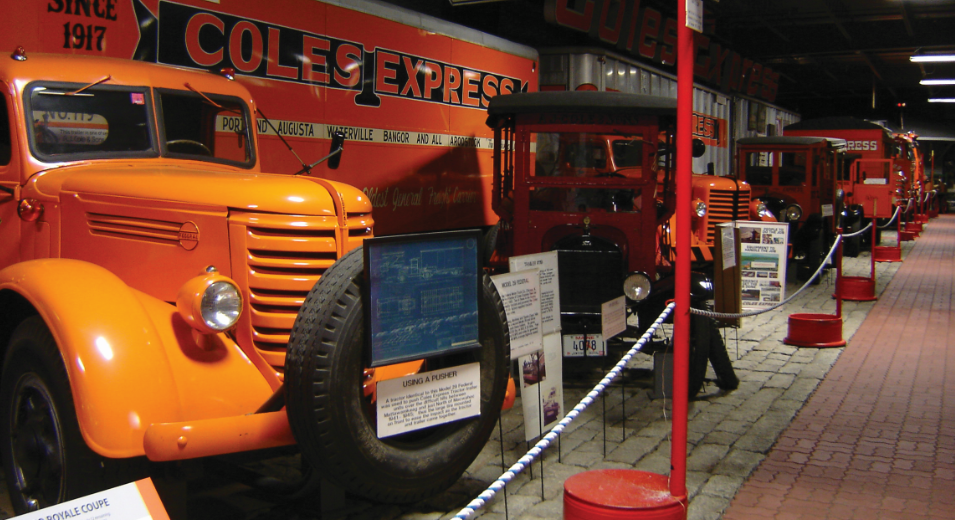 photo of vehicles in cole land transportation museum