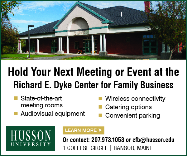 hold your next meeting or event at the richard e. dyke center for family business husson university digital ad