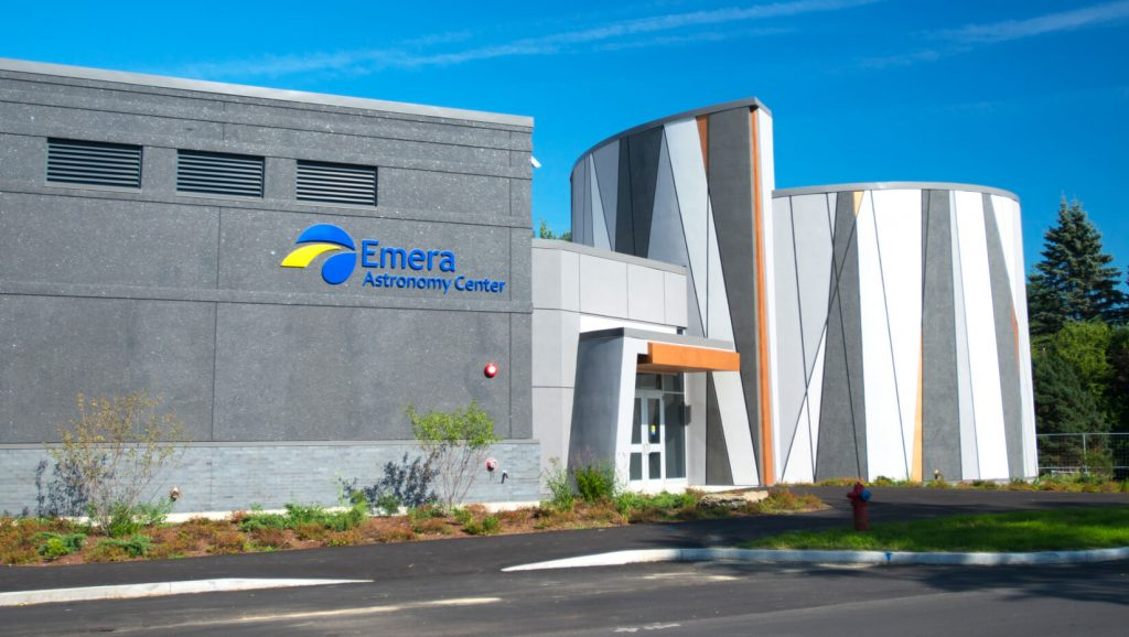 external photo of emera astronomy center building