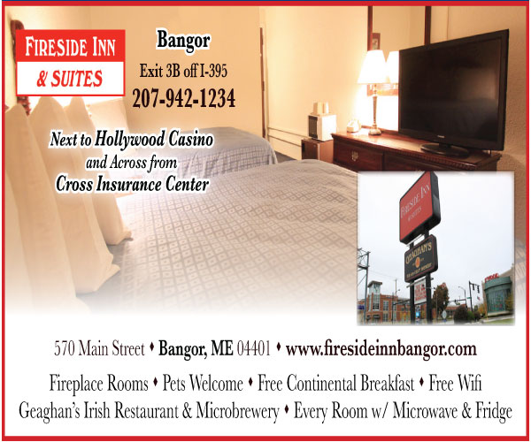 fireside inn and suites next to hollywood casino and across from cross insurance center digital ad
