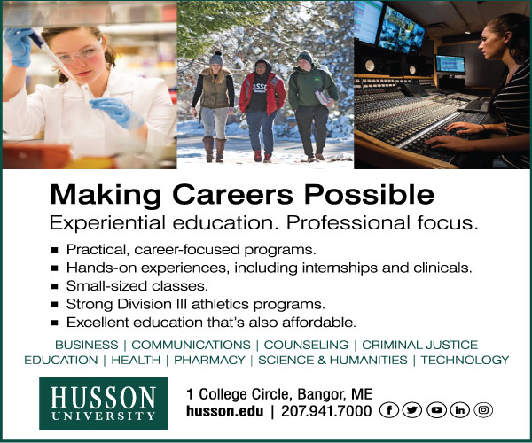 making careers possible experiential education. professional focus. husson university digital ad