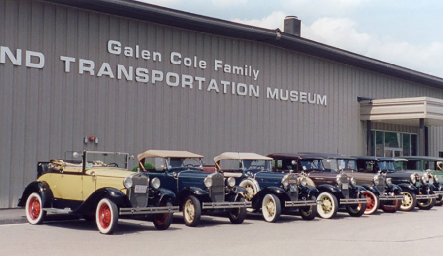 external photo of galen cole family land transportation museum