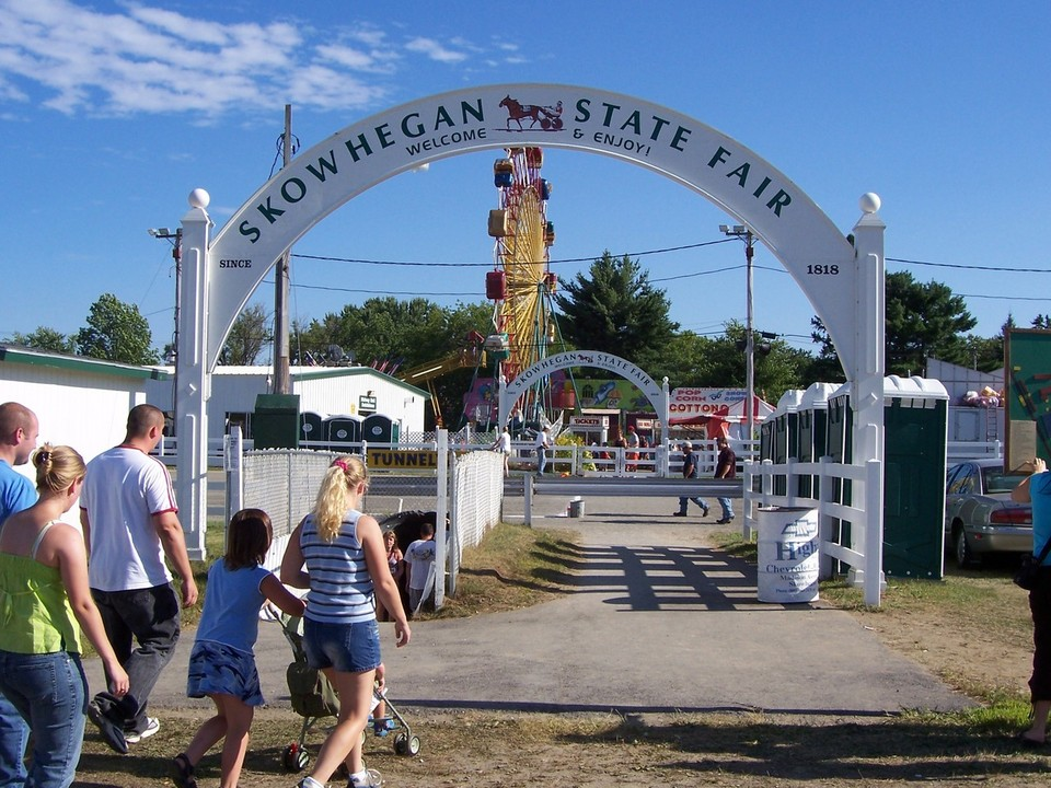 photo of the entrance to the skowhegan state fair
