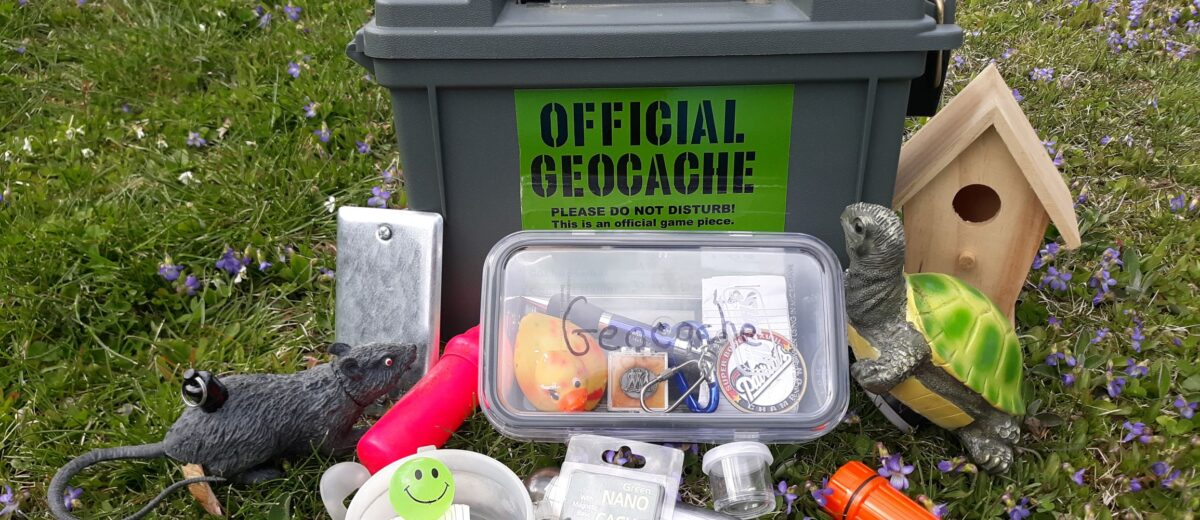 photo of official geocache stash