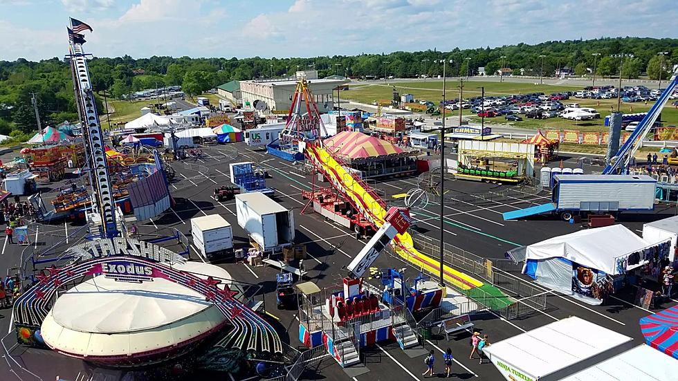 aerial photo of Houlton Agricultural Fair